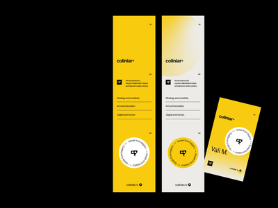 Coliniar — Digital & Human clean branding agency identity acces pass flyer coliniar