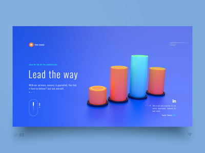 UI Exploration - Lead The Way dailyui clean cinema4d inspiration ui interface web 3drender