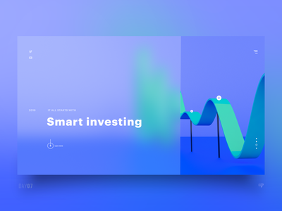 UI Exploration - Smart Investing 3drender dailydesign clean concept design emm dailyui ui web interface inspiration