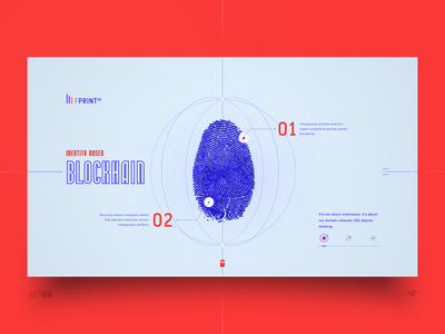 UI Exploration - Identity Based Blockchain 3drender block chain cryptocurrency crypto fingerprint dailydesign design concept emm web ui interface inspiration dailyui