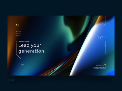 UI Exploration - Lead your generation light interference trippy clean emm dailyui design web 3drender ui interface inspiration