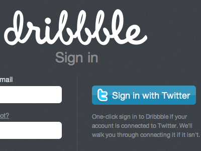 Sign in with Twitter dribbble twitter twitter apps sign in