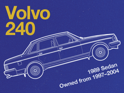 My First Car volvo helvetica yellow blue paper texture helvetica neue
