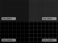 CS4 vs CS5 Pixel Grid