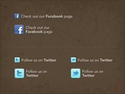 Social Media Decisions icons twitter facebook texture avenir