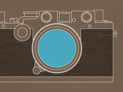 Camera fun time leica illustrator vector texture photoshop blue brown white