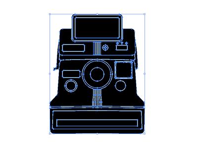 Editing vector camera polaroid silhouette illustrator