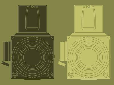 Hassy hasselblad illustrator vector green silhouette