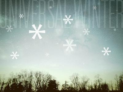 Univers(al) Winter univers asterisk snowflake instagram apollo saratoga springs sunset photography