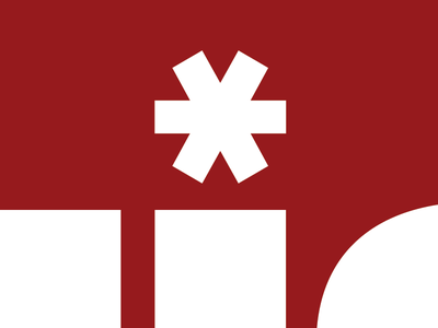 * red logo asterisk univers