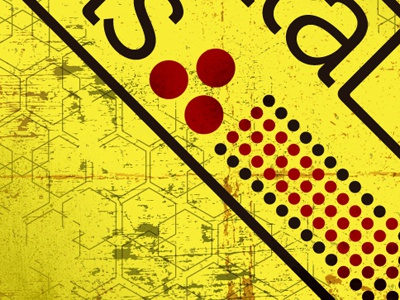 Fd Yellow Promo poster print yellow graphic design
