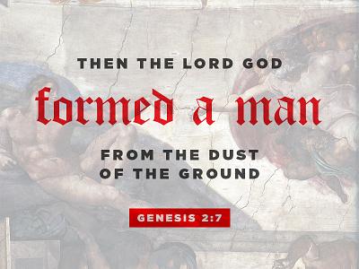 Genesis 2:7 michelangelo gotham instagram god adam genesis verse bible