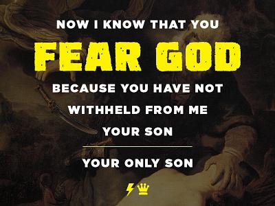 Genesis 22:12 gotham instagram isaac abraham genesis verse bible