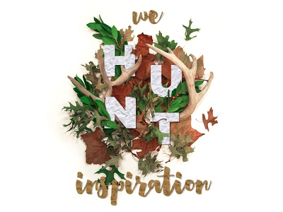 We Hunt Inspiration composition heartwell gotham antlers deer leaves autumn fall photoshop inspiration hunt