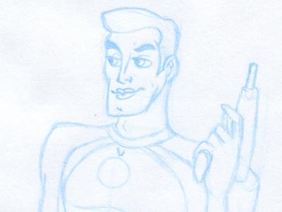 Figure Drawing sketch figure drawing space man ray gun