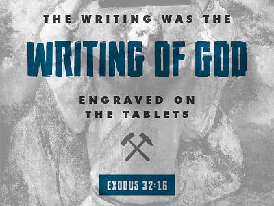 Exodus 32:16 rembrandt futura commandments moses exodus verse bible