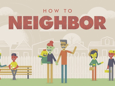 How To Neighbor futura vector illustration neighbor