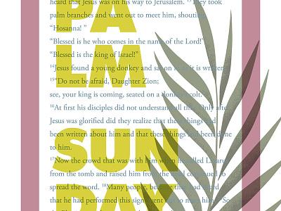 Palm Sunday palm sunday garamond futura hosanna jesus sunday palm