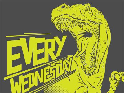 T Rex t-shirt dinosaur vector illustration t rex custom type