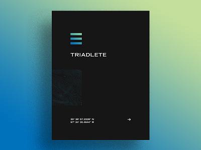 Triadlete trade gothic bold extended design grid okie okc oklahoma fitness cycling running triadlete