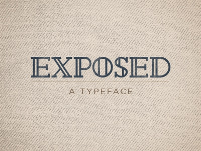 Exposed font typeface typography