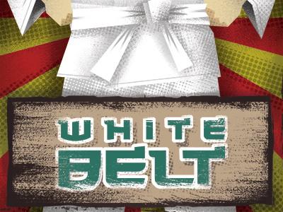 White Belt karate photoshop halftone