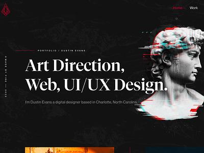 New Site Hero web porftfolio art direction design