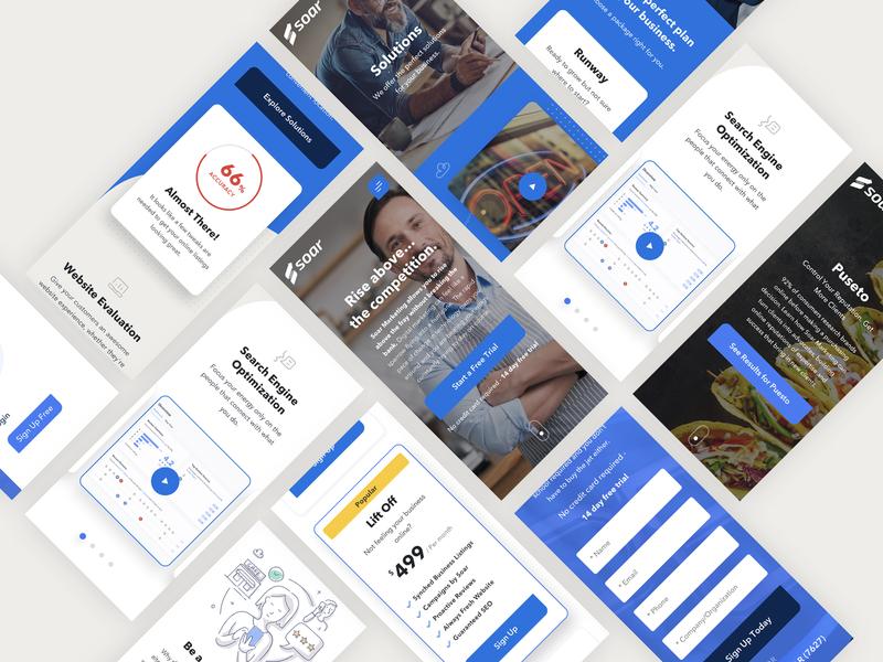 Soar Marketing branding case study art direction design web