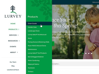 Lurvey Web Menu Design