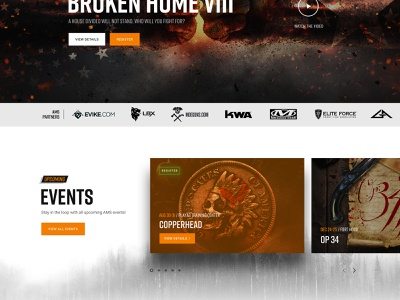 Events Section New Site art direction carousel case study web design