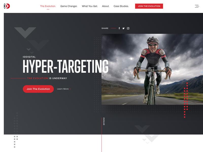 Hero Landing Page Design web case study art direction design