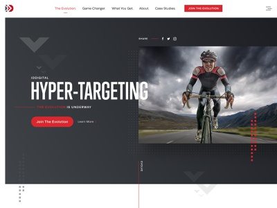 Hero Landing Page Design web case study art direction design