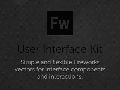 Dark UI Kit Full Fireworks
