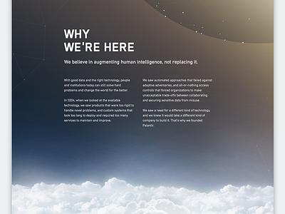 About Palantir palantir interface ui website layout fade planet space clouds