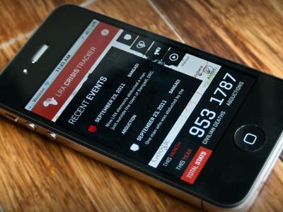 Invisible Children LRA Crisis Tracker - Recent Events Listing iphone invisible children lra app