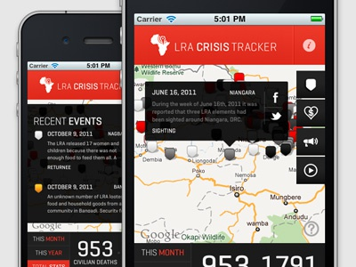 Invisible Children LRA Crisis Tracker iphone invisible children lra app