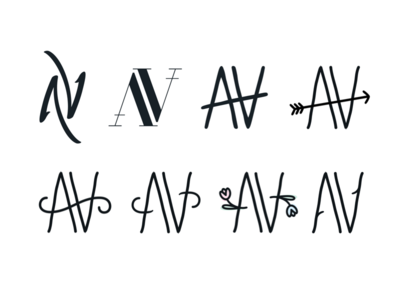 Wedding Emblem (Adam & Victoria) ambigram wedding emblem logo
