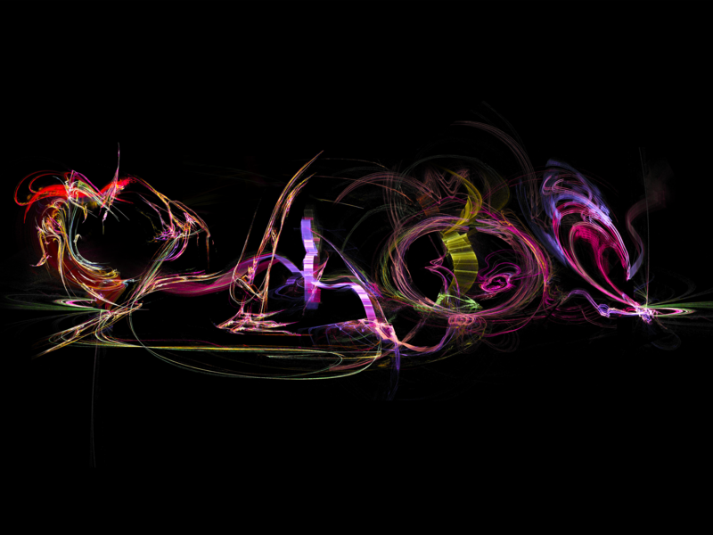 """""""CHAOS"""" rendering calligraphy typography fractal abstract art logo design apophysis lettering"""