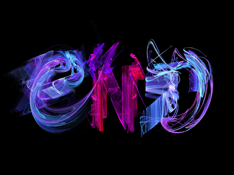 END rendering typography fractal abstract art logo design calligraphy apophysis lettering