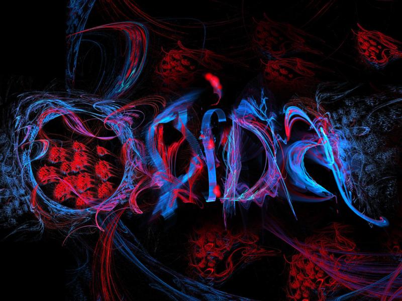 """OBIDA"" illustration poster art rendering typography fractal abstract art logo design calligraphy apophysis lettering"