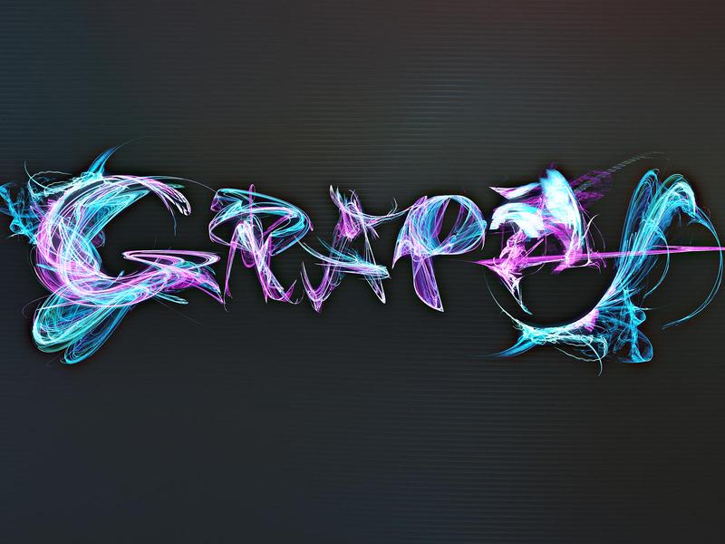 «Grape» poster art illustration fractal design typography apophysis lettering