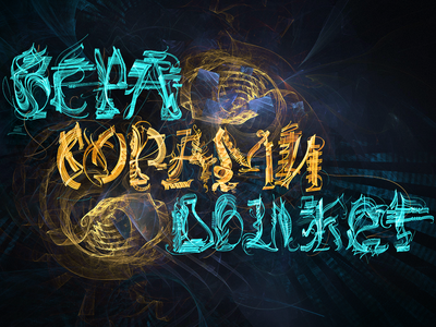 «ВЕРА ГОРАМИ ДВИЖЕТ» fractals lsd poster art rendering illustration fractal abstract art typography calligraphy apophysis lettering