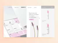 EMVY Cosmetics Website concept