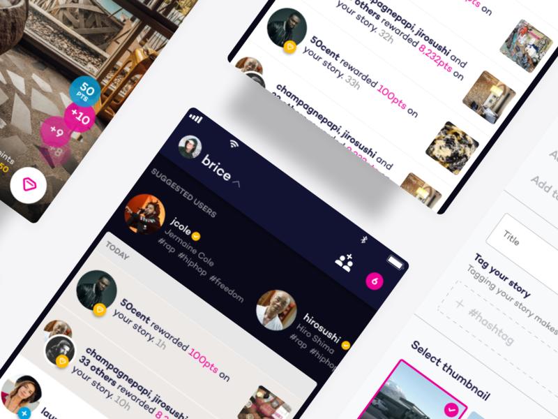 Social App - Pont - Raw.Studio social uxdesign ios app social media design social media