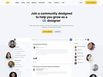 The Designership 2.0 clean minimal simple ux designer design community community