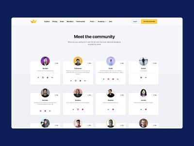 The Designership 2.0 - Members simple clean minimal ux designers commnity design gallery members
