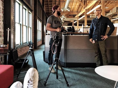 Filming for an upcoming 'Freelancing' Film san francisco australia sydney australian designers ux interviews documentary freelanced film freelance