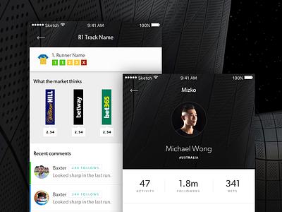App Preview 002 dashboard app black sleek high end book track follow social network sports
