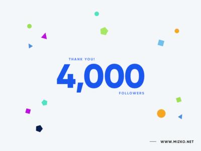 Celebrating 4,000 Dribbble Followers! support thank you 4000 celebrating followers dribbble milestone