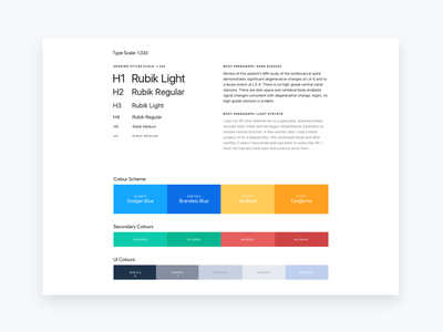 App Style Guide headings user interface ui design module typography css guide style styleguide